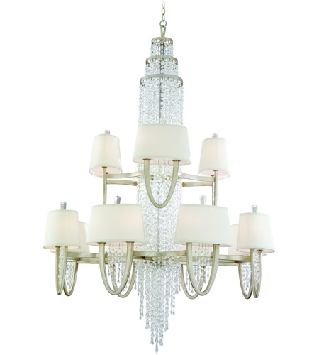 Corbett Lighting 106-024 Viceroy 24 Light 42 inch Antique Silver Leaf Chandelier Ceiling Light photo