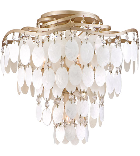 Corbett Lighting 109-34 Dolce 4 Light 16 inch Champagne Leaf Semi-Flush Ceiling Light photo