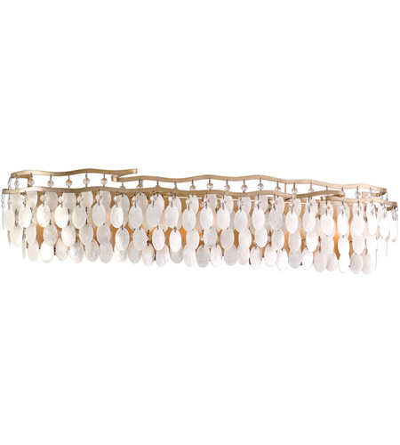 Corbett Lighting 109-67 Dolce 7 Light 37 inch Champagne Leaf Bath Wall Light photo