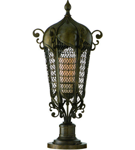 Corbett Lighting Tangiers 2 Light Outdoor Post Lantern in Tangiers Bronze 110-82 photo