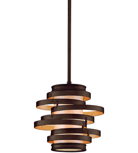 Corbett Lighting 113-41 Vertigo 1 Light 9 inch Bronze / Gold Leaf Mini-Pendant Ceiling Light