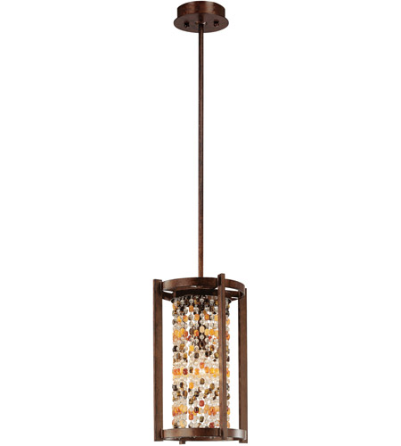 Corbett Lighting Karma 1 Light Pendant in Tranquil Bronze 120-41 photo