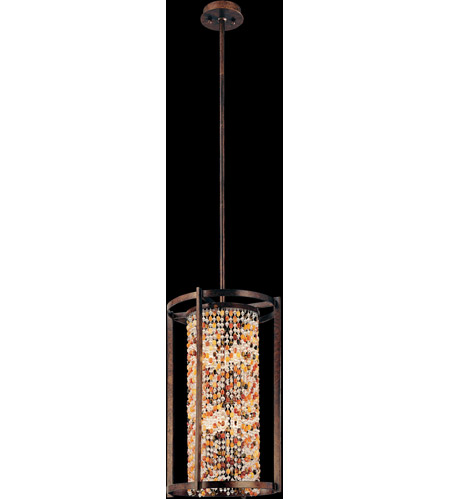 Corbett Lighting 120-76 Karma 6 Light 18 inch Tranquil Bronze Pendant Entry Ceiling Light photo
