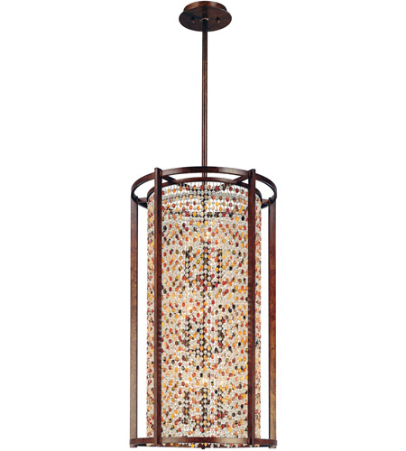 Corbett Lighting Karma 9 Light Pendant Entry in Tranquil Bronze 120-79 photo