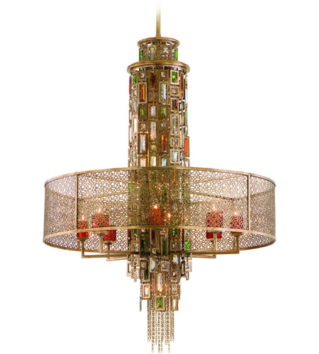 Corbett Lighting 123-715 Riviera 15 Light 32 inch Riviera Bronze with Silver Leaf Pendant Ceiling Light photo