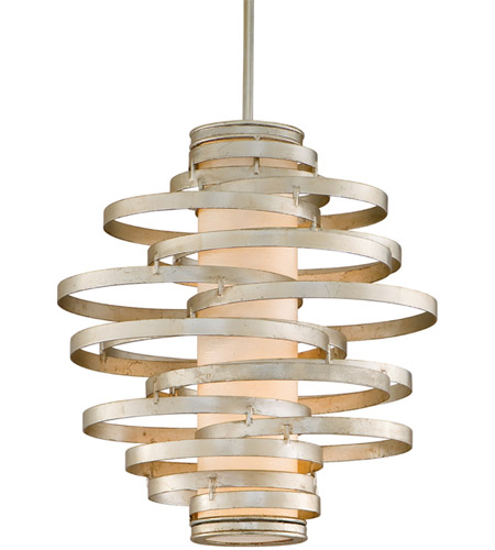 Corbett Lighting 128-42 Vertigo 2 Light 17 inch Modern Silver Pendant Ceiling Light photo