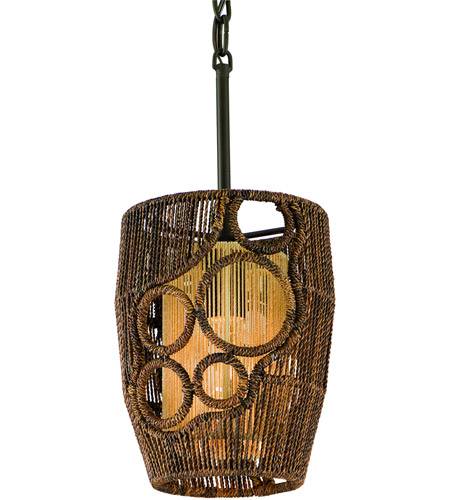 Corbett Lighting Havana 1 Light Mini-Pendant in Two Tone Natual Wood 129-40 photo