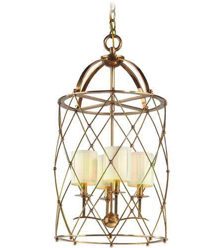 Corbett Lighting Argyle 4 Light Foyer Chandelier in Aged Brass 13-44 photo