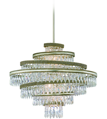 Corbett Lighting Diva 5 Light Pendant in Silver Leaf with Gold Leaf Accent 132-45 photo