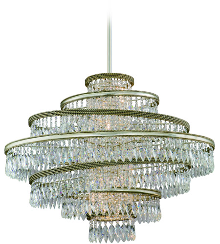 Corbett Lighting 132-46 Diva 5 Light 30 inch Silver Leaf with Gold Leaf Accent Pendant Ceiling Light photo