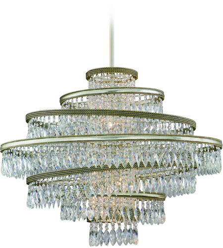 Corbett Lighting 132-47 Diva 7 Light 42 inch Silver Leaf with Gold Leaf Accent Pendant Ceiling Light photo