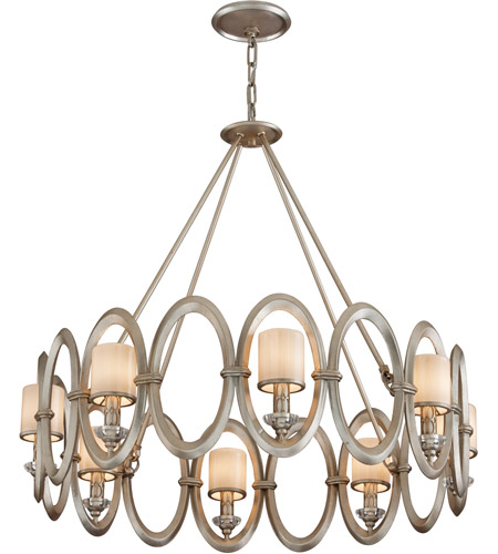 Corbett Lighting Embrace 8 Light Pendant in Satin Silver Leaf 134-48 photo