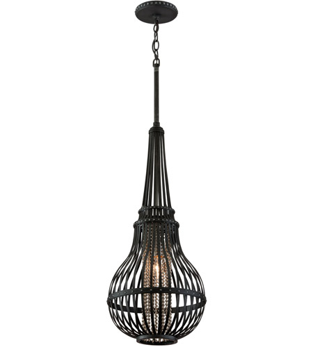 Corbett Lighting Oasis 1 Light Pendant in Old Pewter with Silver Accents 137-42 photo