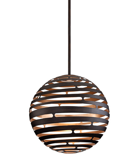 Corbett Lighting 138-44 Tango LED 30 inch Textured Bronze with Warm Silver Leaf Pendant Ceiling Light photo