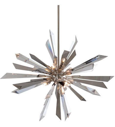 Corbett Lighting Inertia 6 Light Pendant in Silver Leaf Finish 140-47 photo