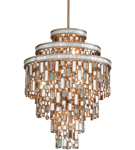 Corbett Lighting 142-47 Dolcetti 7 Light 18 inch Dolcetti Silver Pendant Ceiling Light photo