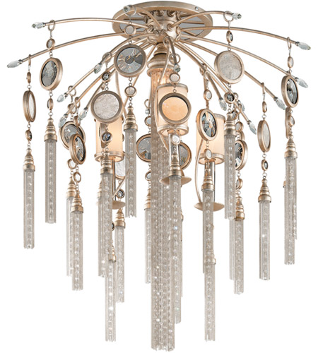 Corbett Lighting 162-37 Bliss 4 Light 26 inch Topaz Leaf Semi-Flush Ceiling Light photo