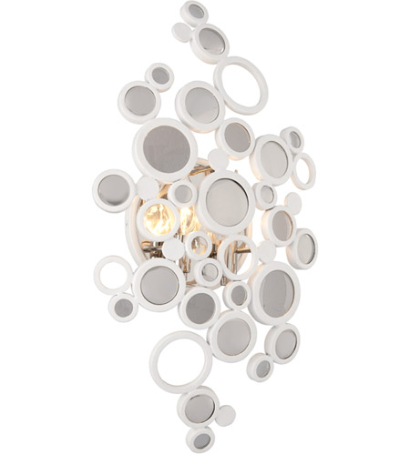 Corbett Lighting 187-12 Fathom LED 12 inch White Wall Sconce Wall Light photo