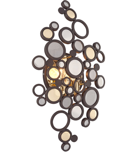 Corbett Lighting 188-12 Fathom LED 12 inch Bronze with Polished Brass Wall Sconce Wall Light photo