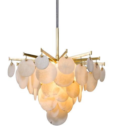 Corbett Lighting 228 42 Serenity Led 28 Inch Gold Leaf Chandelier Ceiling Light