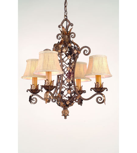 Corbett Del Mar 4 Light Chandelier In Palace Bronze 24-04 photo