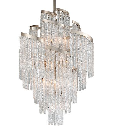 Corbett Lighting 243 413 Mont Blanc 13 Light 36 Inch Modern Silver Leaf Chandelier Ceiling