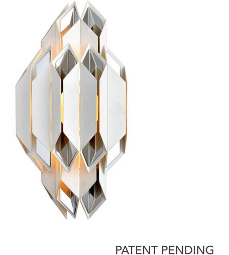 low priced b49d6 15825 Corbett Lighting 254-12 Haiku 2 Light 11 inch White Wall Sconce Wall Light