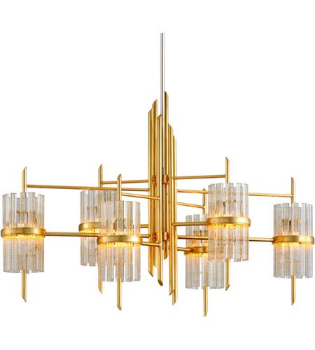Corbett Lighting 257 56 Symphony 6 Light 48 Inch Gold Leaf Chandelier Ceiling