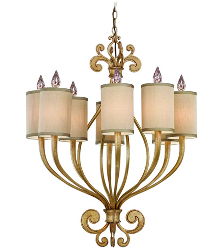 Corbett Lighting Pinot 8 Light Chandelier in Silver Leaf 32-08 photo