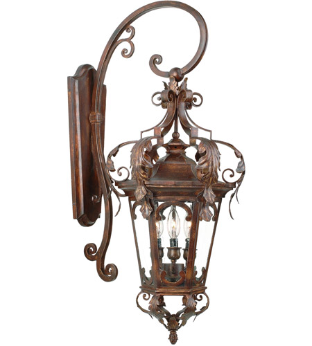 Corbett Lighting Regency 3 Light Outdoor Wall Lantern in Regency Bronze 34-22 photo