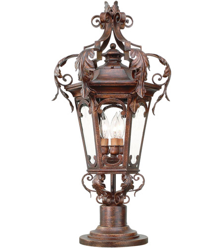 Corbett Lighting Regency 3 Light Outdoor Post Lantern in Regency Bronze 34-82 photo