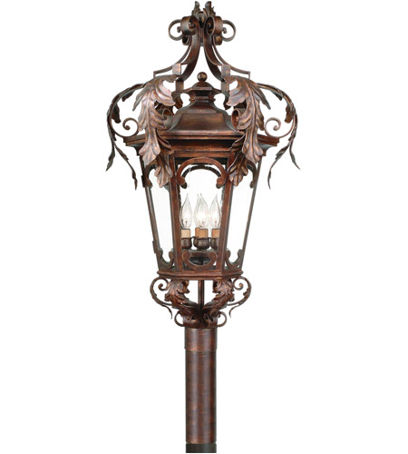 Corbett Lighting Regency 4 Light Outdoor Post Lantern in Regency Bronze 34-83 photo
