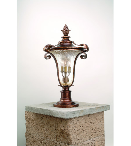 Corbett Lighting Pirouette 4 Light Outdoor Post Lantern in Venetian 35-83 photo