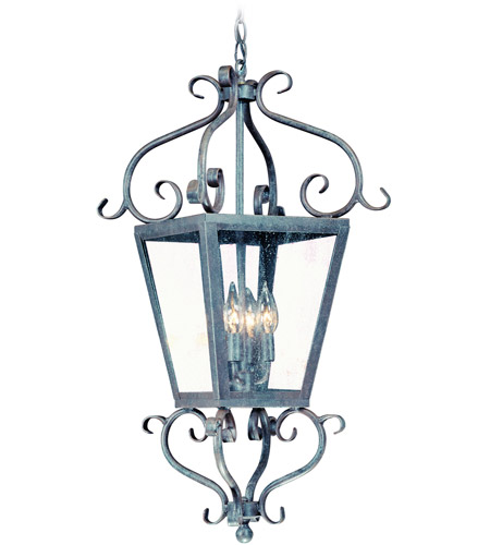 Corbett Lighting Vineyard Hill 4 Light Outdoor Hanging Lantern in Country Rust 4577-14-02 photo