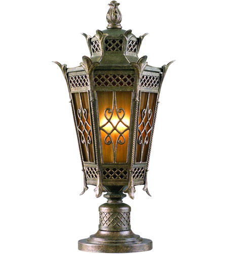 Corbett Lighting Avignon 1 Light Outdoor Post Lantern Fluorescent in Avignon Bronze 58-82-F photo