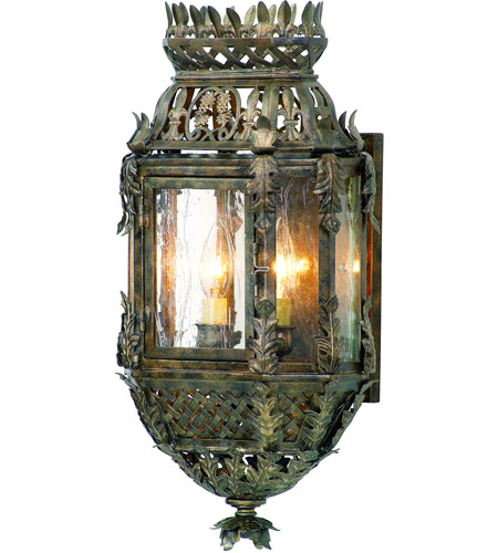 Corbett Lighting Montrachet 2 Light Outdoor Wall Lantern in Montrachet Bronze 59-21 photo