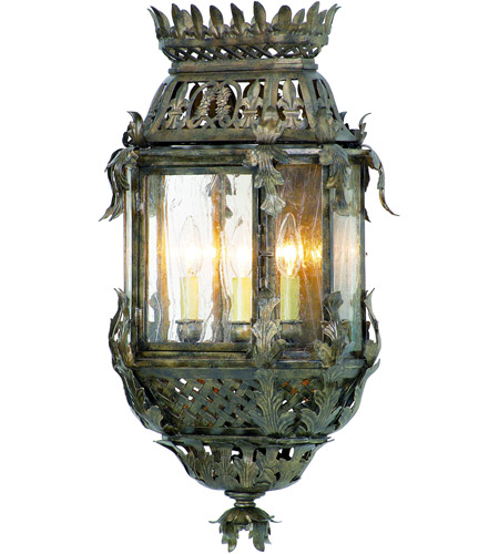 Corbett Lighting Montrachet 3 Light Outdoor Wall Lantern in Montrachet Bronze 59-22 photo