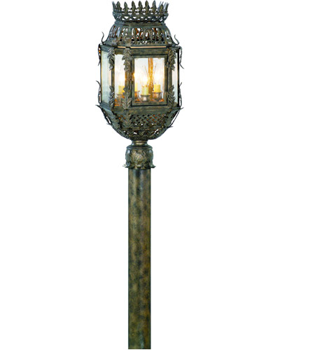 Corbett Lighting Montrachet 4 Light Outdoor Post Lantern in Montrachet Bronze 59-82 photo