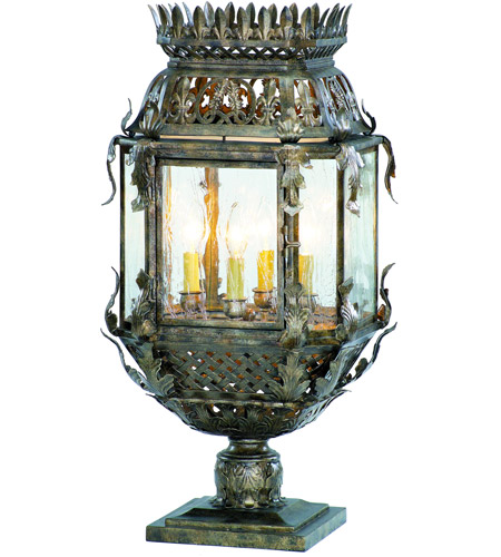 Corbett Lighting Montrachet 4 Light Outdoor Post Lantern in Montrachet Bronze 59-83 photo