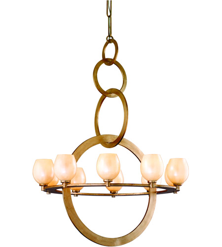Corbett Lighting Cirque 10 Light Chandelier in Champagne Leaf 62-010 photo
