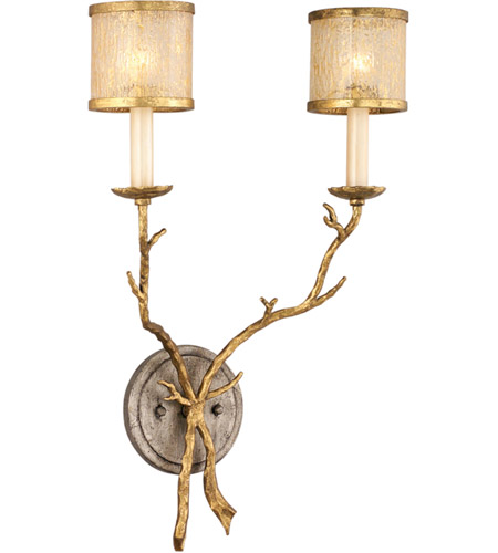Corbett Lighting 66-12 Parc Royale 2 Light 14 inch Gold And Silver Leaf Wall Sconce Wall Light photo