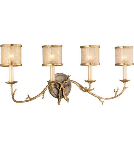 Corbett Lighting Parc Royale 4 Light Bath in Gold And Silver Leaf 66-64 photo