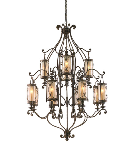 Corbett Lighting 67-012 St. Moritz 12 Light 43 inch Moritz Bronze Chandelier Ceiling Light photo