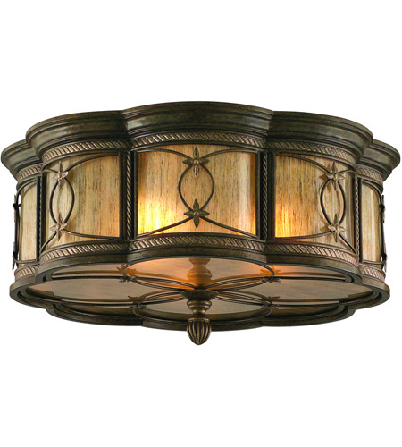 Corbett Lighting 67 34 St Moritz 3 Light 21 Inch Bronze Flush Mount Ceiling