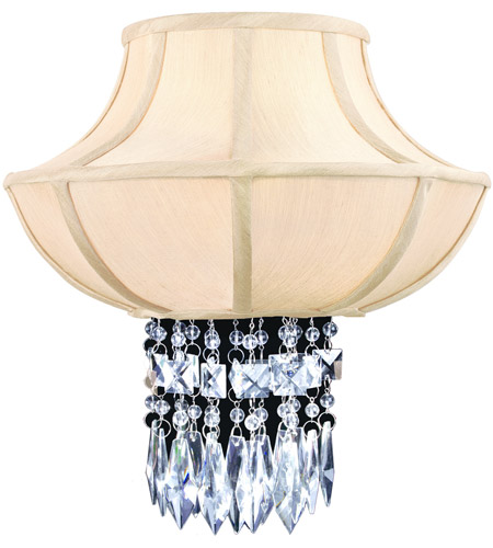 Corbett Lighting Cascade 2 Light Wall Sconce in Polished Chrome 70-12 photo