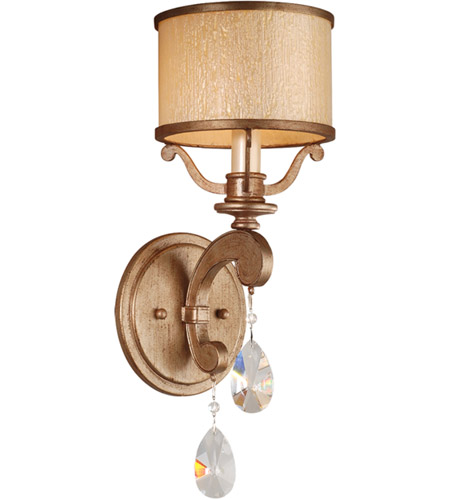 Corbett Lighting Roma 1 Light Wall Sconce in Antique Roman Silver 71-61 photo