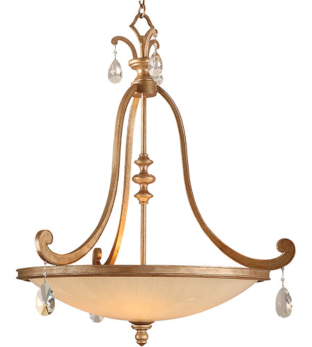 Corbett Lighting Roma 4 Light Inverted Pendant in Antique Roman Silver 71-74 photo