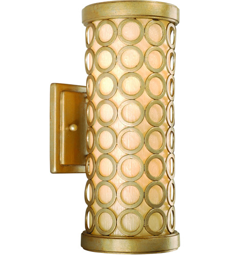 Corbett Lighting Bangle 1 Light Outdoor Wall Lantern Fluorescent in Silver Leaf with Antique Mist 72-21-F photo