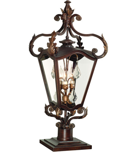 Corbett Lighting St. Tropez 3 Light Outdoor Post Lantern in Antique Bronze 75-82 photo