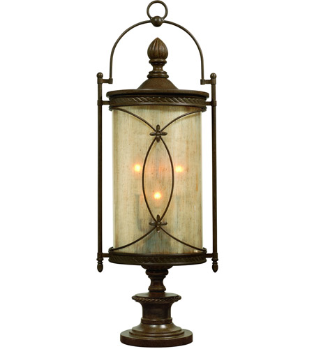 Corbett Lighting St. Moritz 6 Light Outdoor Post Lantern in Moritz Bronze 76-83 photo